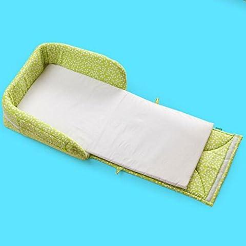 Krippe Portable Krippe Faltbare Krippe Reisekrippe Mehrfarbige Krippe , green leaves bed (Pferd Neugeborene Krippe)