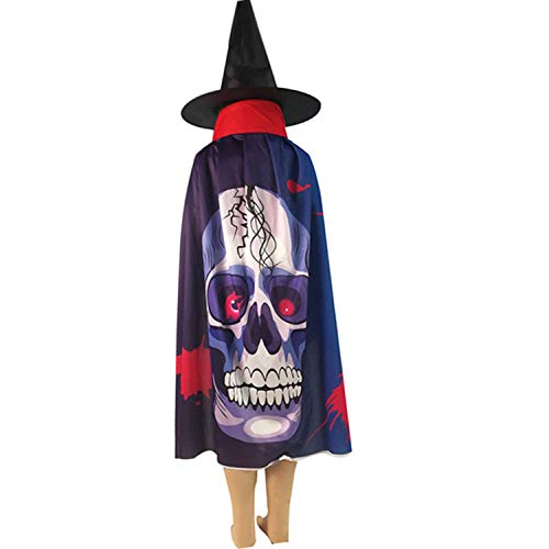 Shenghaotai World -Wide Cosplay Halloween Party Ghost Bat Capes Hooded Cosplay Kostüme Fabric Horror Halloween Cloak for Boy and Girl(None H02) (Kleinkind Bat Girl Kostüm)