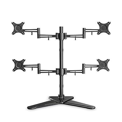 Support de table pour moniteur Monitor-Fuß vierarmig 25-76 cm