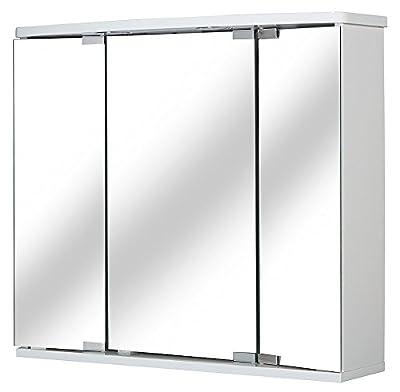 "Jokey ""Funa LED"" Mirrored Wardrobe White - cheap UK light store."