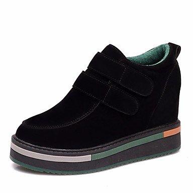 Stivali da donna Comfort PU Primavera Casual Green Black Flat Black