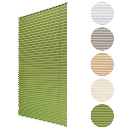 Sol Royal Plissee SolDecor P25 - 45x100 cm Grün - Klemm-Fix ohne Bohren - Plissee-Rollo Jalousie für Fenster & Türen