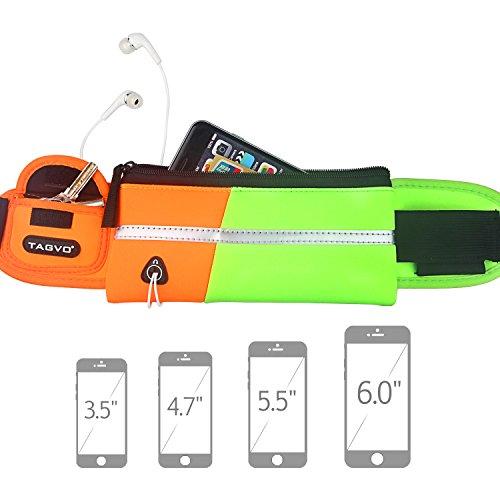 Tagvo Cinturón deportivo con parche reflectante para llevar las llaves,...