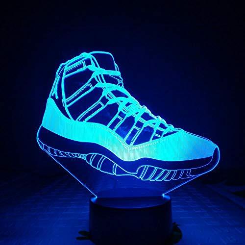 Jordan retro 4 schuhe basketball lampe nacht dekor 3d illusion touch sensor jungen kinder geschenk led nachtlicht air jordan 4 turnschuhe usb wiederaufladbare basketball fans präsentieren energiespare (Jungen Retro Jordans)