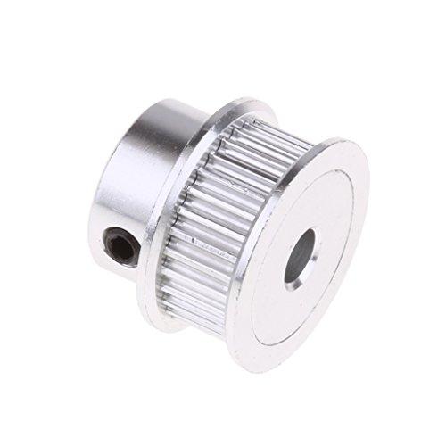 Homyl Aluminium GT2 Zahnriemenscheibe Große 3D-Drucker Teile und Zubehör - Silber 5mm