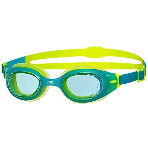 Zoggs Sonic Air Junior Goggles Gafas de natación, Juventud Unisex, Azul/Lima/Claro, 6-14 años