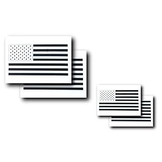 AcidTactical Airbrush-Malschablonen mit amerikanischer Flagge, 50 US Sterne, klein und groß, 4 Stück