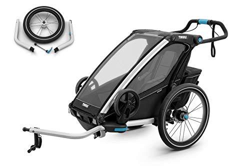 Thule Chariot Sport Set Black Edition Fahrradanhänger, inkl. Joggigset Buggy/für 1 Kind