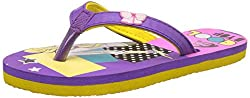 Barbie Girls Purple and Yellow Flip-Flops and House Slippers - 12 kids UK/India (31 EU)