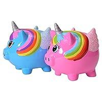 Salvadanaio a forma di maialino Horn si adatta perfettamente a gli interessi di amanti degli animali e la loro hobby. Non solo arte si rallegrano pertanto, il salvadanaio maiale unicorno come presente sulla festa di compleanno per bambini. So...