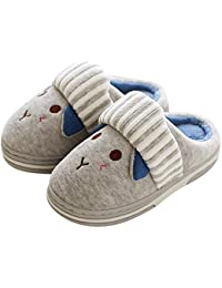 TITAP 18M-10Y 2018 Winter Children Cotton Slipper Shoes Boys/Girls Indoor Slipper Fashion Plush Warming Home Toddler Baby Velvet Shoes (Age:3.5-4.5Years, Gray)