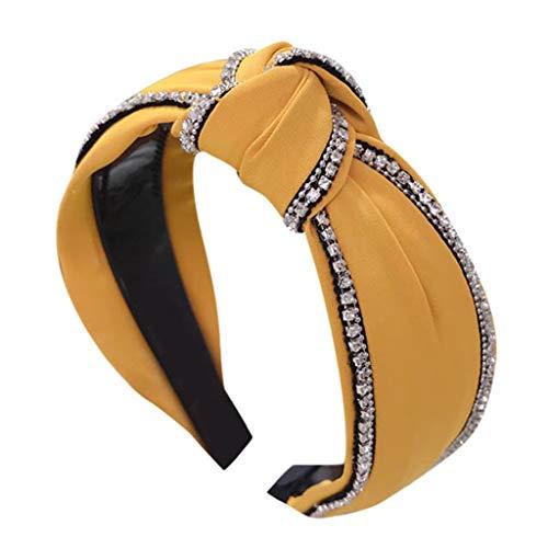 Mode Crystal Stirnband Stirnbänder Damen Twist Bow Haarbänder Elastische Weiche Bandana Turban Streetwear Kopfband Einfache SüßE MäDchen Haarschmuck