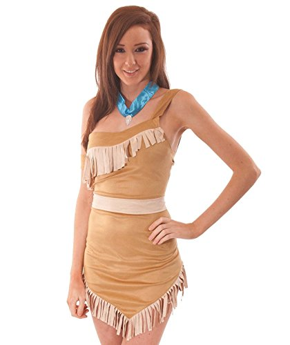 Für Erwachsene Kostüm Pocahontas - Pocahontas Köstum Indian Fancy Dress Costume Halloween Outfit Ladies Womens Size 38-40