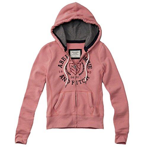 abercrombie-damen-logo-full-zip-hoodie-kapuzenpullover-strickjacke-grosse-medium-hellpink-623142187