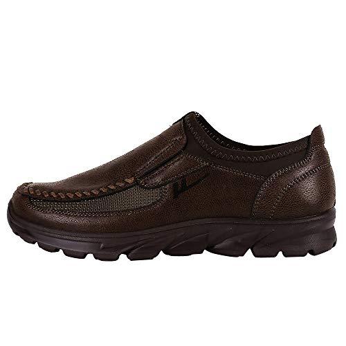 OHQ Chaussures Hommes Respirant Anti-DéRapant Plate-Forme De Sport SPOR Kaki Café Brun Automne éPais Bas DéContractéEs Palladium Hiver Aigle Mariage Marron
