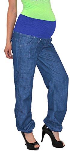 Schwangerschaftshose Umstandshose Damen Hose für Schwangerschaft in schwarz und blau U-J133 Typ-U_J132
