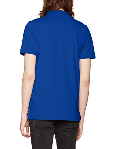 SELECTED HOMME Herren T-Shirt Shharo SS Embroidery Polo NOOS Blau (Limoges)