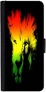 Snoogg colourful lion 2654 Graphic Snap On Hard Back Leather + PC Flip Cover One Plus One
