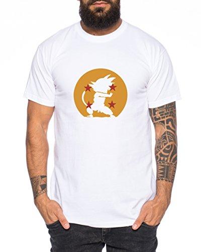 Kamehameha im Dragonball Nerd Herren T-Shirt in verschiedenen Farben Weiß