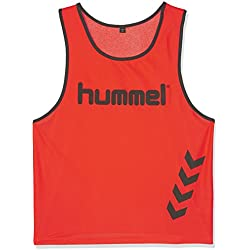 Hummel Fundamental Training - Camiseta de entrenamiento, color naranja (neon orange), talla XL
