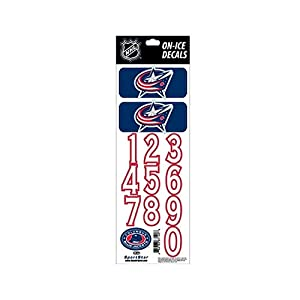 Helmsticker Set NHL Sportstar Team Columbus Blue Jackets