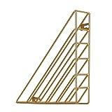 HBOS Gold Zeitschriftenhalter Hängenden Wand Metall Modernes Wandboard für Bücher, Magazine, Zeitungen / 3 Unterschiedlichen Ausrichtungen