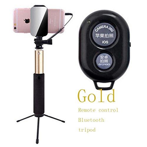 Selfie Stick per Android/iPhone Grigio telecomando con Bluetooth Mini nessuna APP senza batterie
