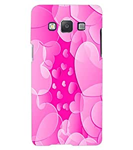 ColourCraft Heart Pattern Design Back Case Cover for SAMSUNG GALAXY A7