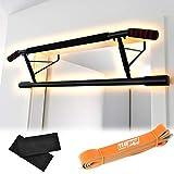110PRCT Einzigartige Klimmzugstange für Türrahmen mit ergonomisch angewinkelten Griffen | vielseitiges Fitness-Gerät zu Hause | Effizientes Heimtraining