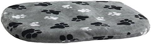 Beeztees 705349 Teddykissen Pfoten mit Reisverschluss, 38 cm, grau