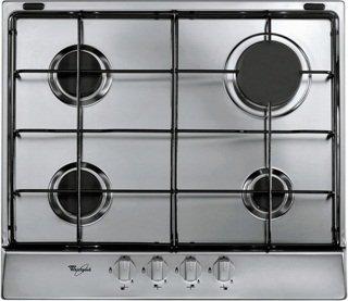Whirlpool AKR 350/ix Plaque – Plaque (intégré, gaz, acier inoxydable, acier inoxydable, rotatif, partie supérieure avant)