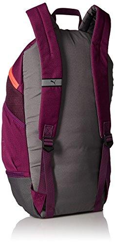 Puma Unisex Echo Backpack Rucksack dark purple-hot coral