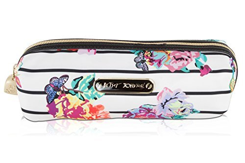 Betsey Johnson Nylon Pencil Pen School Supplies Stationary Case Pouch Bag Holder - Floral -