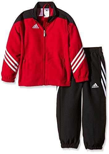 adidas Kinder Sportanzug Fußball bekleidung Sere14 pre Y Präsentationsanzug Top:University Red/Black Bottom:Black/White, 116