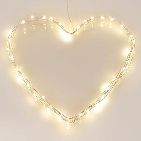 [Minutero] 40 LED Guirnaldas Luminosas Exteriores de Pilas (8 Modos de Funcionamiento, 120 Horas de Iluminación, Impermeable IP65, Blancas
