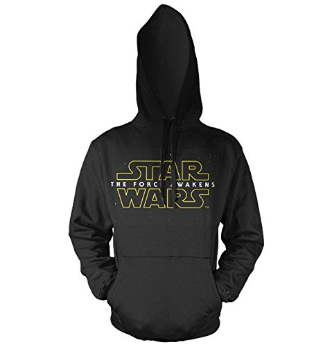 Officially Licensed Merchandise The Force Awakens Logo Hoodie (Black), Large