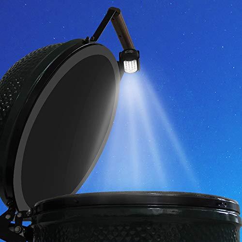 Xingo Grill-Licht LED für Big Green Egg Grill Outdoor LED Barbecue Lampe für Big Green Egg Modelle (9 Zoll Griff) mit 24 Ultra Hellen LED-Lichtern batteriebetrieben Outdoor Kochen Zubehör -