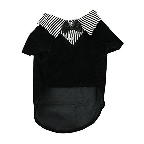 Hmeng Haustier-Hundeshirt Welpen-warme Kleidung-Strickjacke-Kostüm-Jacken-Mantel (L, Schwarz) (Dog Black Apparel)