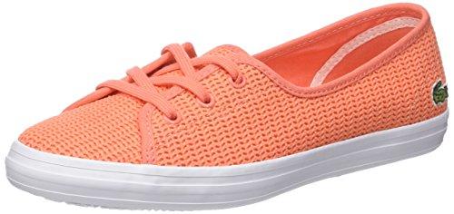 Lacoste Damen Ziane Chunky 217 1 Bässe, Orange, 40.5 EU (Schuhe Krokodil-heels Womens)