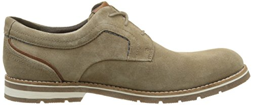 Rockport Statford Plaintoe - Zapatos Hombre Beige (new Vicuna Suede)