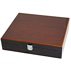 Watch Box for 10 Watches, 8 Layers of Paint, Rosewood, 2104