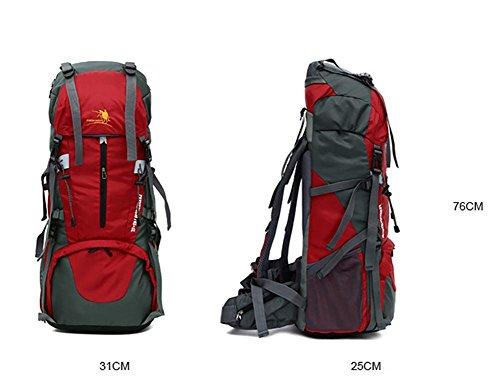 60L Outdoor-Bergsteigen Tasche Wanderrucksack Tourismus Profi Rucksack Green