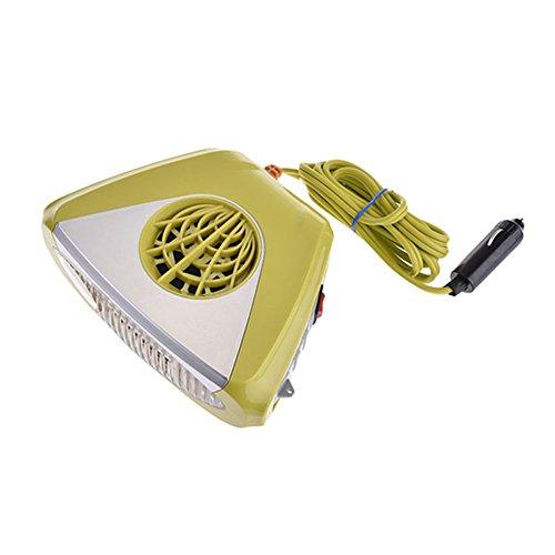 12v auto riscaldante auto dispositivo portatile termoventilatore sbrinamento veicolo regolabile girevole caldo vento riscaldamento rapido con maniglia integrata yellow