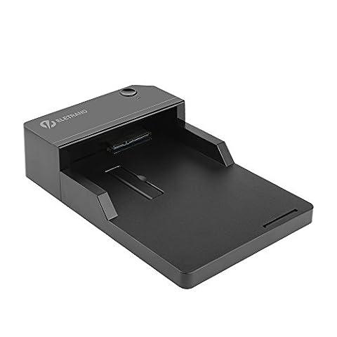 [USB 3.0 & Support UASP] Eletrand USB 3.0 HDD/SSD Boîtier Externe pour Disque Dur Externe 3.5'' 2.5'' SATA HDD SSD avec USB 3.0 Câble de Données + Adaptateur Secteur -