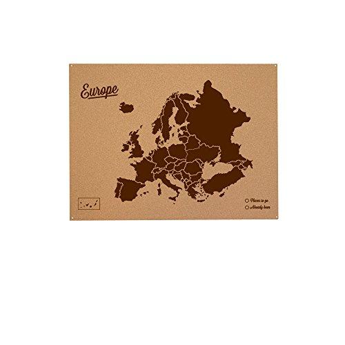 Miss Wood Mapa de Europa de Corcho