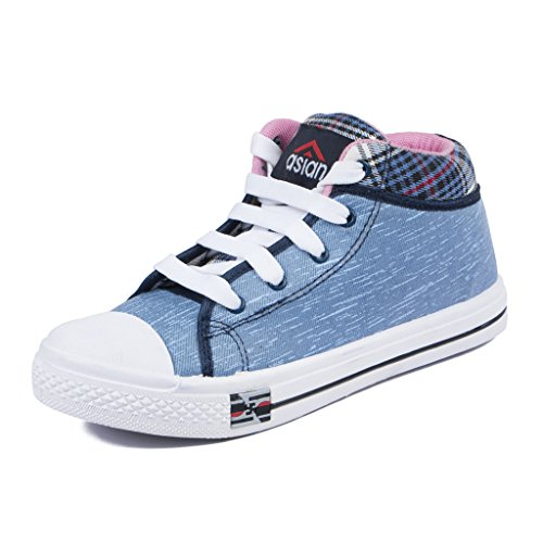 Asian Shoes Racer-81 Women's Blue Canvas Casual Shoes 6 Uk/Indian