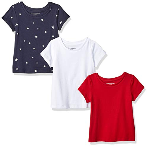 4t Tee (Amazon Essentials 3-Pack Short-Sleeve Tee fashion-t-shirts, Star/White/Red, 4T)
