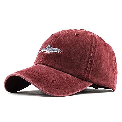 Vintage Fitted Cap (Luckhome Baseball Caps,Cap im Military-Stil aus robustem Baumwollcanvas, verstellbar, UnisexUnisex-Outdoor-Baumwolle Hochwertige bestickte Unisex-Baseballmützen einstellbar(rot))