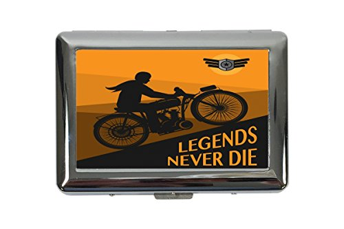 Zigarettenetui Box Motorrad Garage Legenden Bedruckt