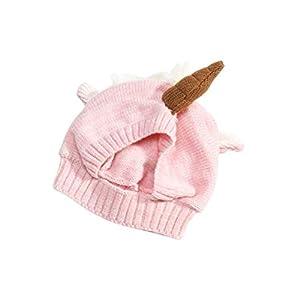 Toyvian 1 Stück Warme Plüsch Einhorn Form Winter Herbst Cartoon Baby Hut für Halloween Herbst Winter Einhorn Baby Hut